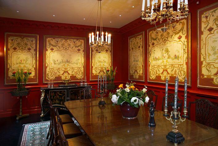 red and gold dining room | Annabel Hall Design - Interior Decoration - Portfolio ...
